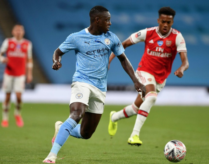Manchester City 20-21 Home Kit Debuted in a Semifinal loss to Arsenal