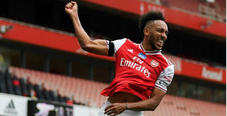 """It's Aubameyang! Who else?!"" his brace sends Gunners to FA Cup final"