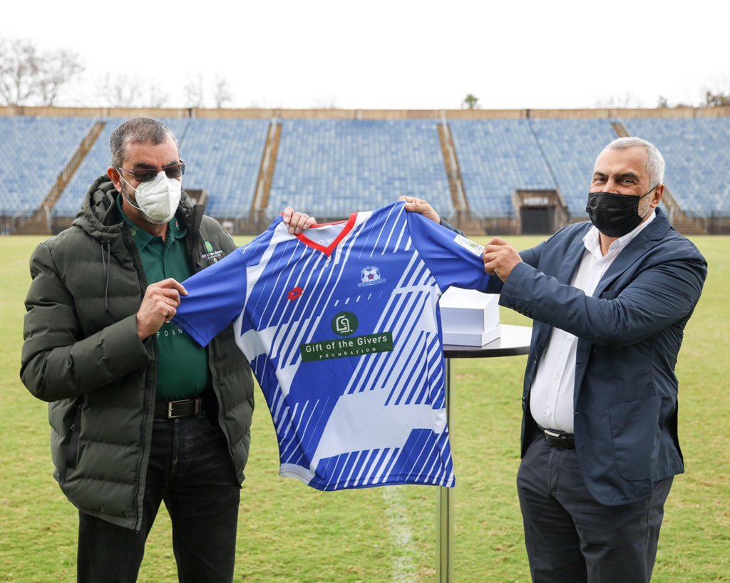 Maritzburg United partners with renowned global humanitarian body, the Gift of the Givers Foundation.