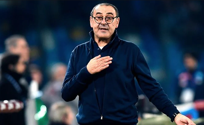 Juventus Sacks manager Maurizio Sarri after being knocked out Champions League