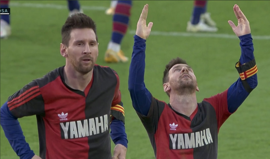 Messi Pays Tribute to Maradona by Wearing His Old Shirt Under Barça Shirt For Full Game