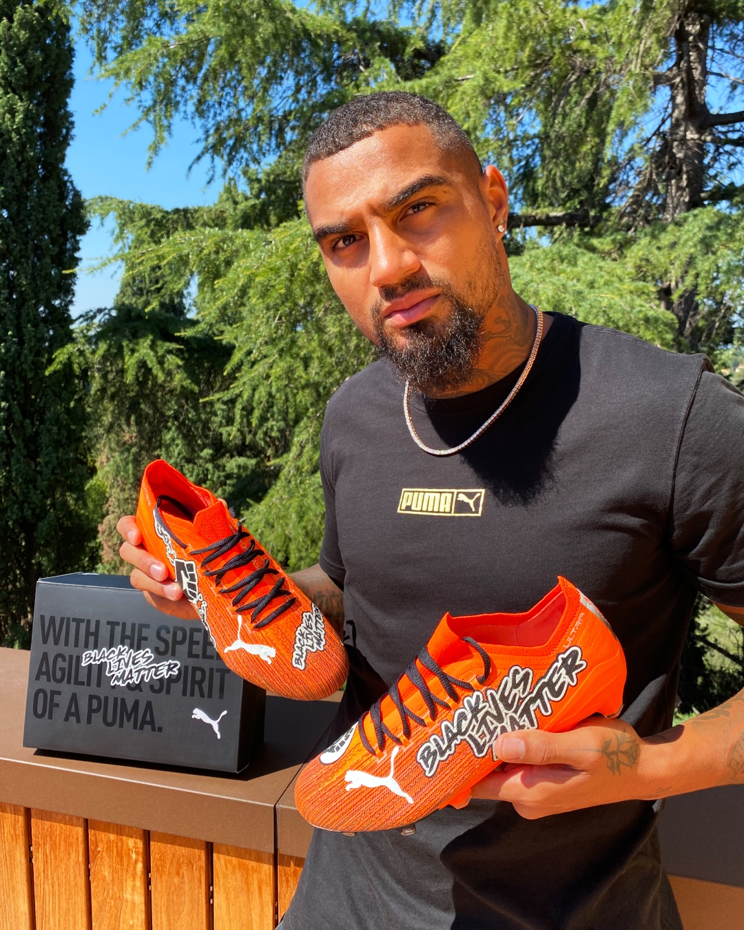PUMA AND KEVIN PRINCE BOATENG PRESENT SPECIAL BLACK LIVES MATTER ULTRA FOOTBALL BOOTS