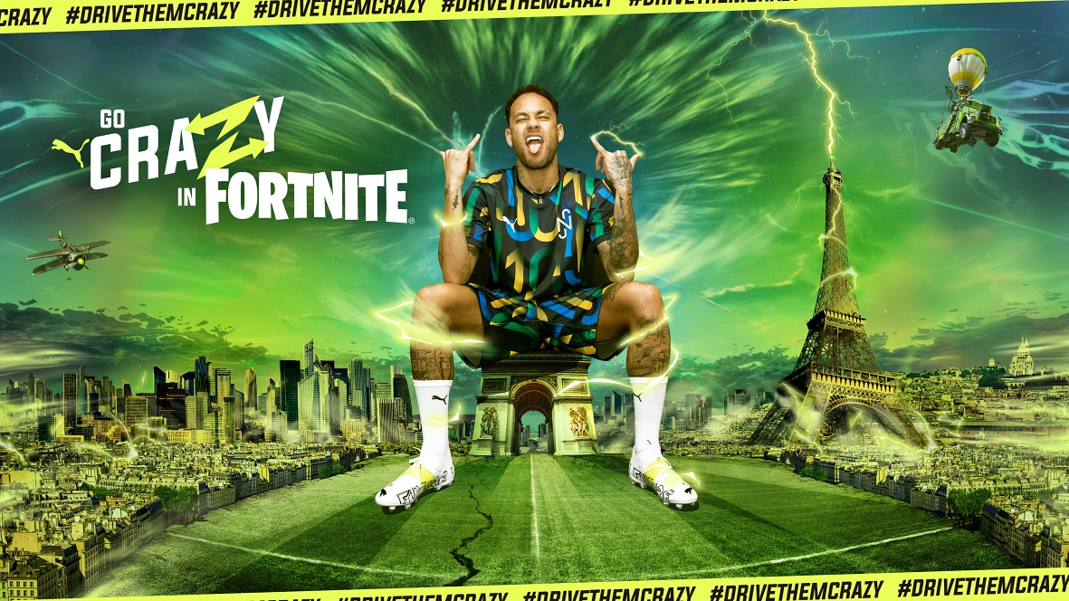NEYMAR JR. & PUMA GO CRAZY IN FORTNITE: UNLOCK NEW OUTFITS, GO CRAZY IN CREATIVE AND COMPETE IN THE NEYMAR JR. CUP